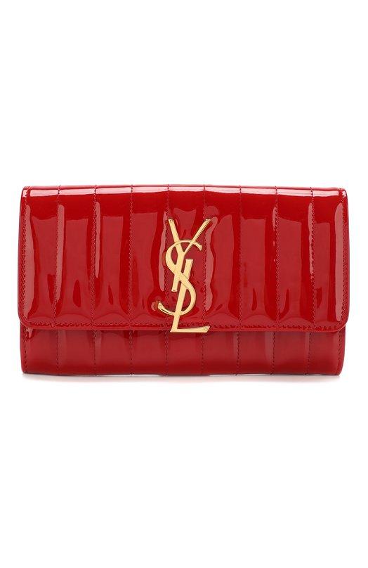 Купить Лакированный кошелек Vicky Saint Laurent, 539972/0UF11, Италия, Красный, Кожа натуральная: 100%;
