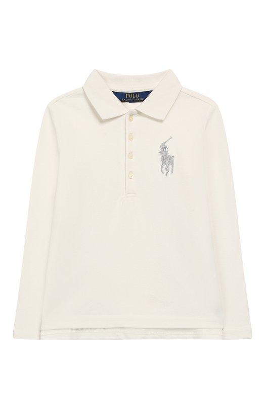 Купить Хлопковое поло с длинными рукавами Polo Ralph Lauren, 312711072, Китай, Белый, Хлопок: 98%; Эластан: 2%;