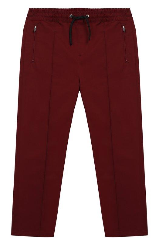 Купить L42P76/FUFIS/2-6, Хлопковые брюки с поясом на кулиске Dolce & Gabbana, Румыния, Бордовый, Хлопок: 97%; Эластан: 3%;, Мужской, Брюки