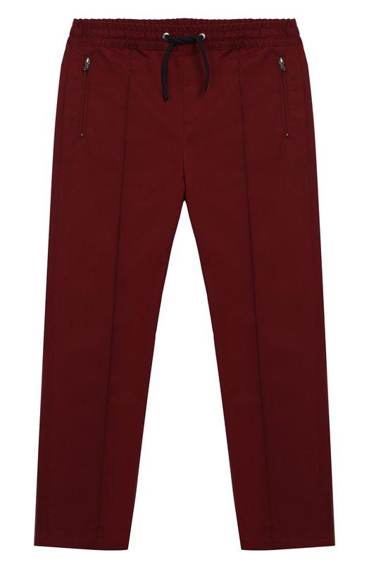 Купить L42P76/FUFIS/8-14, Хлопковые брюки с поясом на кулиске Dolce & Gabbana, Румыния, Бордовый, Хлопок: 97%; Эластан: 3%;, Мужской, Брюки