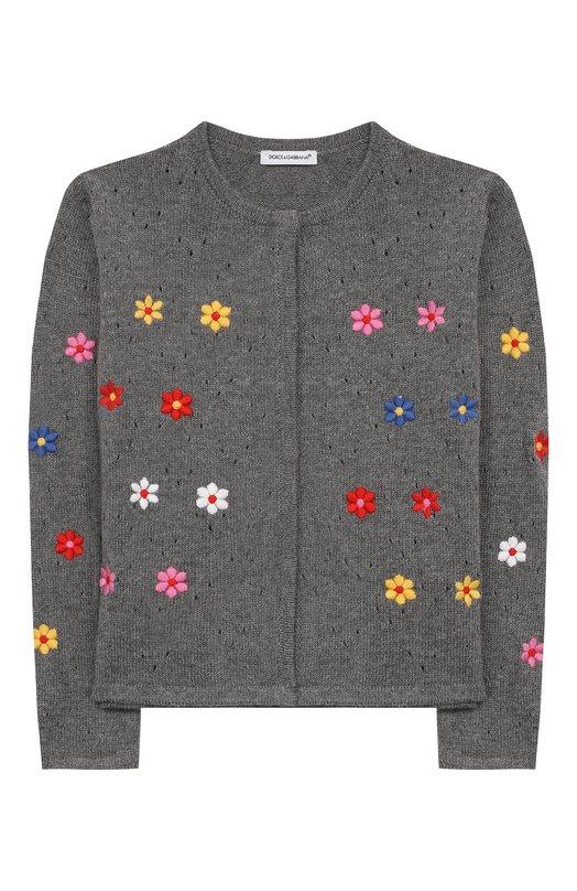 Кардиган фактурной вязки с вышивкой Dolce & Gabbana