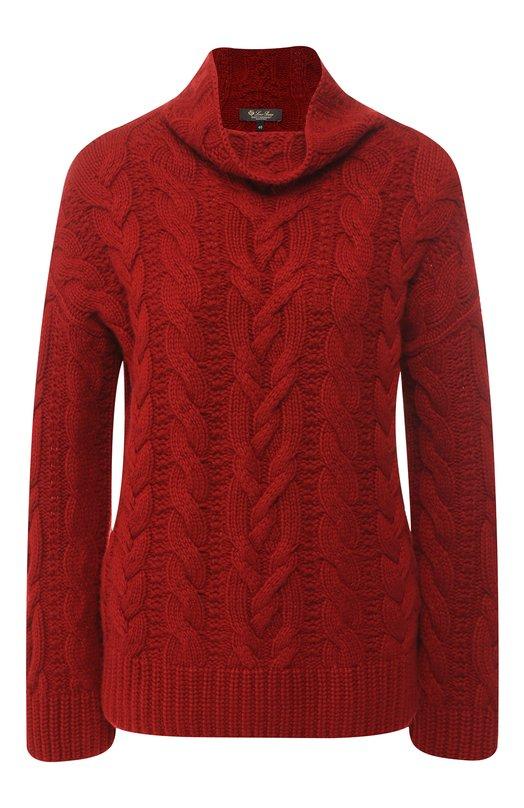 Купить Кашемировый пуловер фактурной вязки Loro Piana, FAI3100, Италия, Бордовый, Кашемир: 100%;