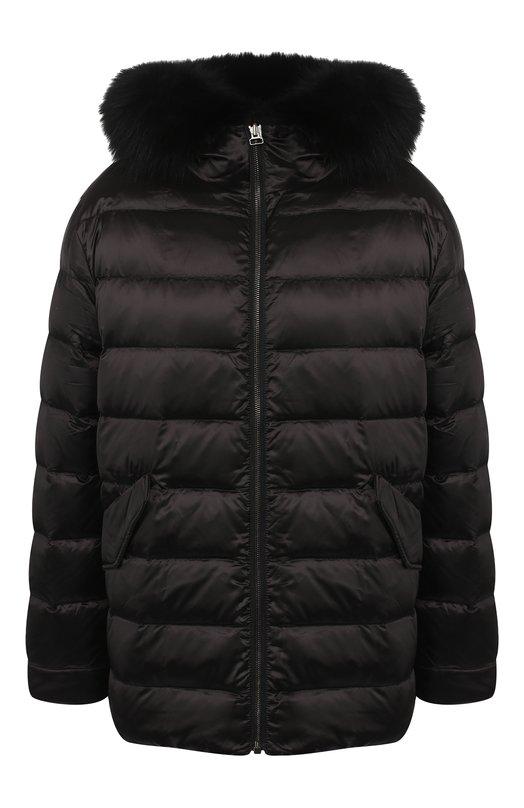 Купить Двусторонняя куртка с меховой подкладкой Army Yves Salomon, 9WFV04467N34X, Франция, Черный, Пух: 90%; Отделка мех/лиса/: 100%; Подкладка-мех/норка/: 100%; Полиэстер: 100%; Перо: 10%;