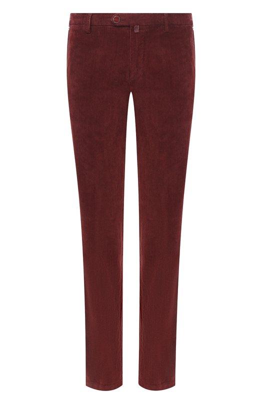 Купить Хлопковые брюки прямого кроя Kiton, UFPP79J02R74, Италия, Бордовый, Хлопок: 98%; Эластан: 2%;