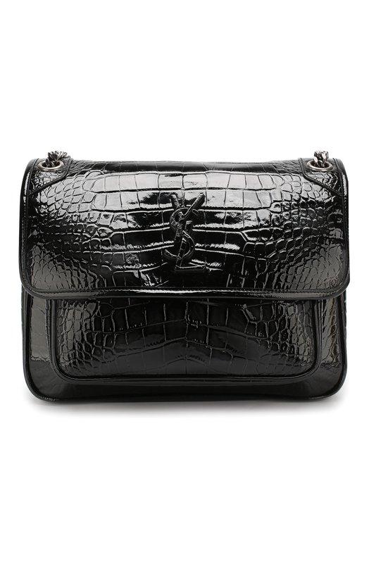 Купить Сумка Niki medium Saint Laurent, 548942/0XA0D, Италия, Черный, Кожа натуральная: 100%;