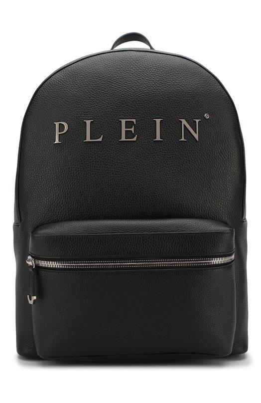 Купить Кожаный рюкзак с внешним карманом на молнии Philipp Plein, A18A MBA0600 PLE053N, Италия, Черный, Кожа: 100%;