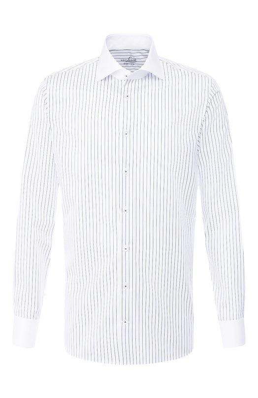 Купить Хлопковая сорочка с воротником кент Van Laack, RIVARA-LFSFN/151251, Вьетнам, Синий, Хлопок: 100%;