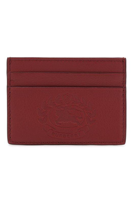 Купить Кожаный футляр Sandon для кредитных карт Burberry, 4077838, Италия, Красный, Кожа: 100%;