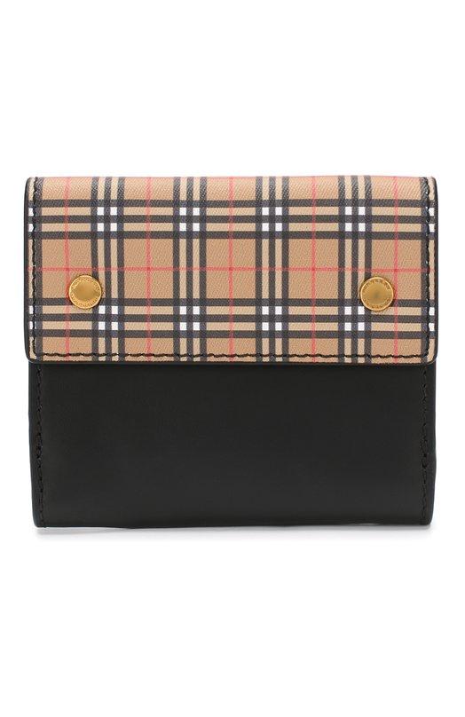 Купить Кожаный кошелек с отделениями для кредитных карт Burberry, 4077856, Молдова, Светло-коричневый, Кожа: 90%; Полиуретан: 10%;