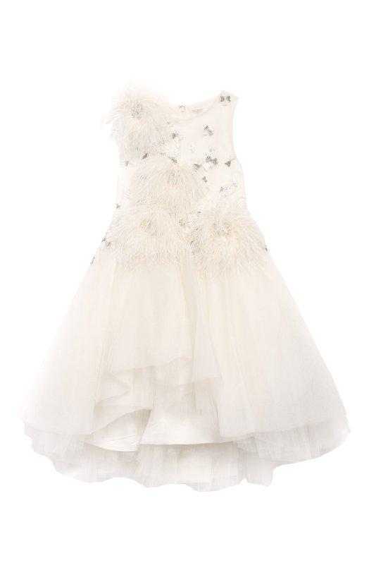 Платье-миди с аппликациями Mischka Aoki