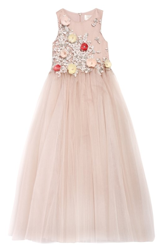 Платье-макси с аппликациями Mischka Aoki
