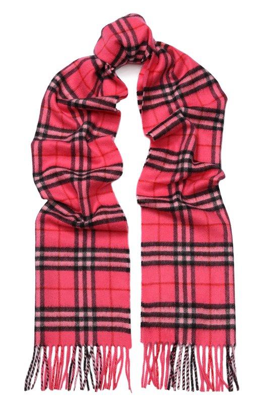 Купить Кашемировый шарф в клетку Burberry, 4080014, Великобритания, Розовый, Кашемир: 100%;