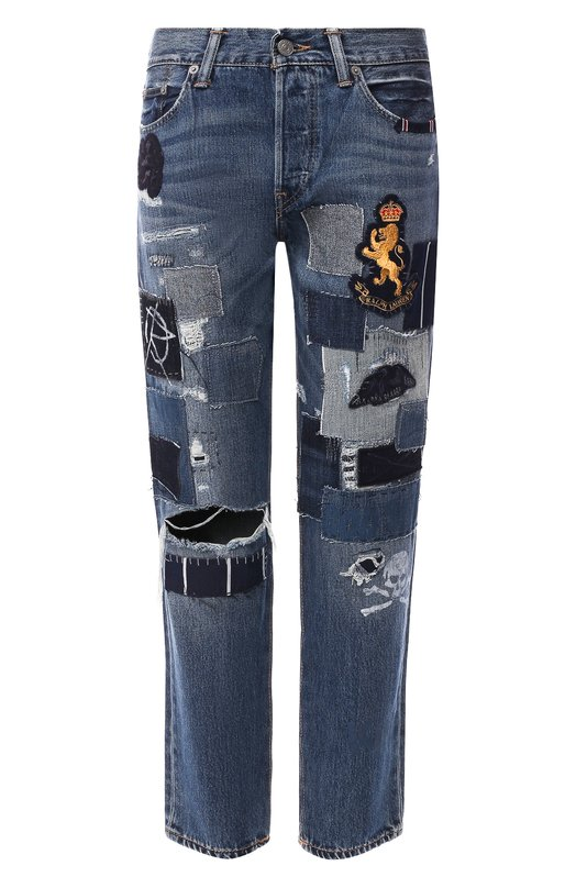 Укороченные джинсы с потертостями  Polo Ralph Lauren