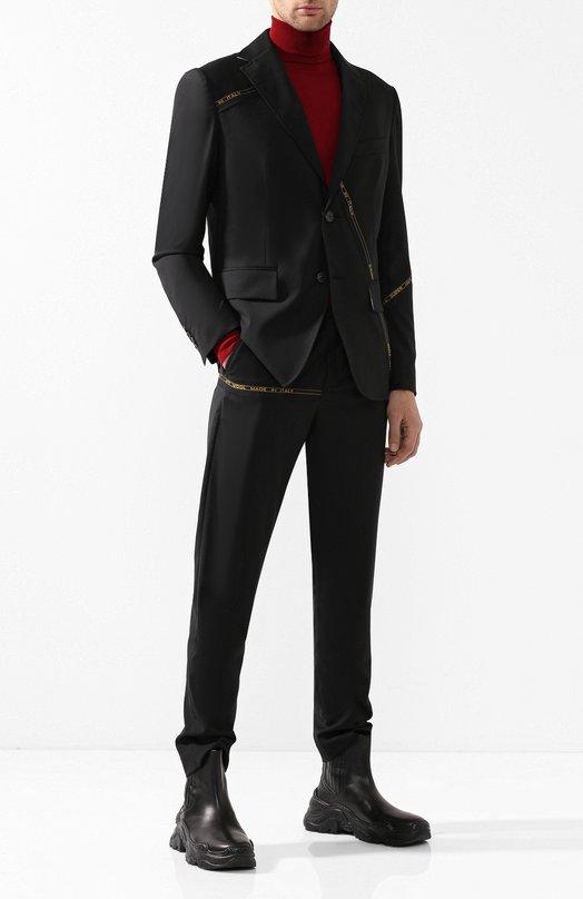 Шерстяной костюм с пиджаком на двух пуговицах Damir Doma
