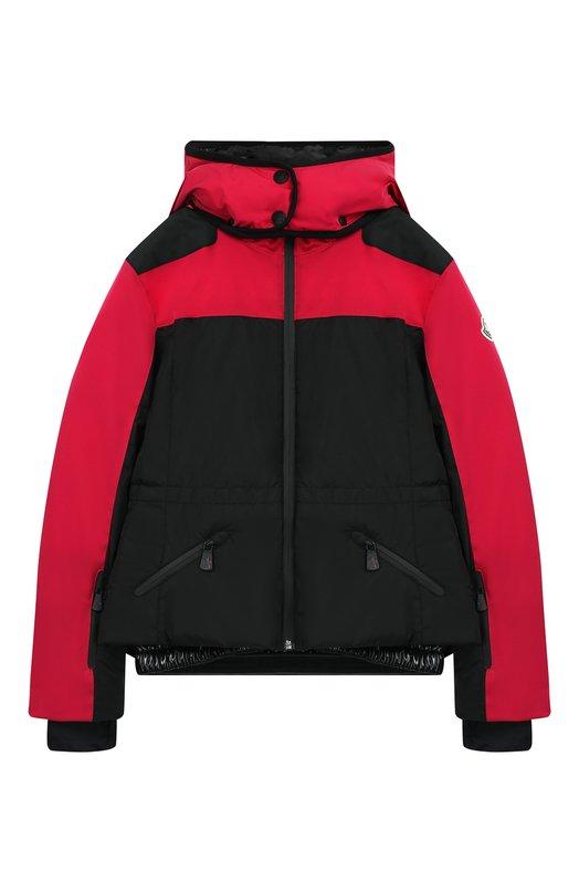 Купить Куртка на молнии с капюшоном Moncler Enfant, D2-954-46877-35-53066/12-14A, Армения, Розовый, Полиамид: 100%; Подкладка-полиамид: 100%;