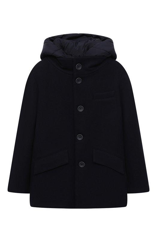 Комбинированная куртка с капюшоном Herno