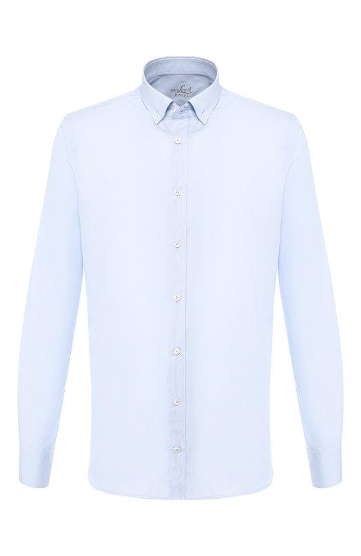 Купить Хлопковая рубашка с воротником button down Van Laack, R0Y-SF/130648, Вьетнам, Голубой, Хлопок: 100%;