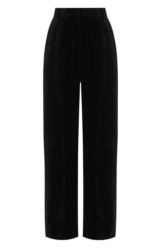 Купить Бархатные брюки свободного кроя Racil, RS7-P2, Португалия, Черный, Вискоза: 82%; Шелк: 18%;
