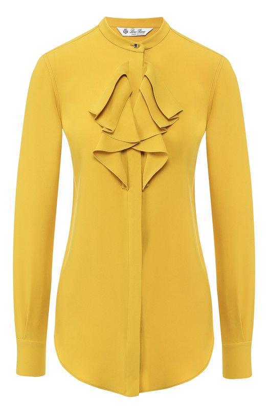 Однотонная блуза из шелка Loro Piana