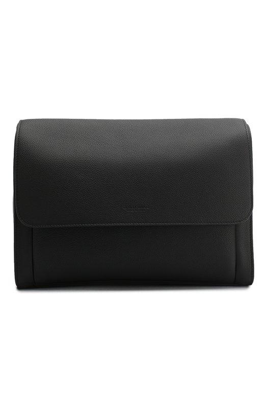 Купить Кожаный мессенджер с клапаном Giorgio Armani, Y2M200/YDZ1J, Италия, Черный, Кожа: 100%;