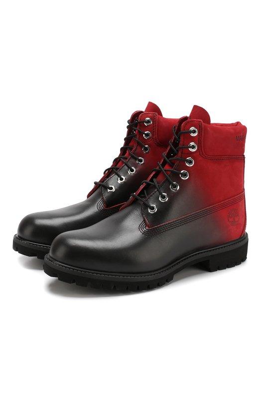 Кожаные ботинки Marcelo Burlon & Timberland Marcelo Burlon, CMIA074F189161292088, Вьетнам, Красный, Подошва-Резина: 100%; Подкладка-Кожа: 100%; Кожа: 100%; Низ-Кожа: 100%;  - купить
