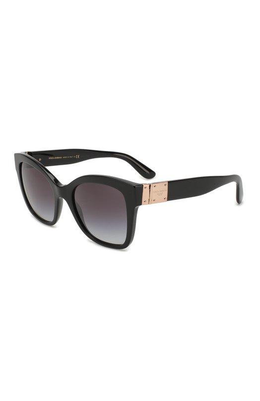 Купить Солнцезащитные очки Dolce & Gabbana, 4309-501/8G, Италия, Черный, Оправа-ацетат; Линзы-поликарбонат;