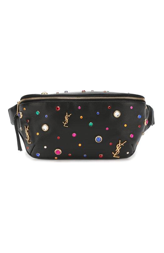 Купить Поясная сумка Monogram Saint Laurent, 539639/0J4F1, Италия, Черный, Кожа натуральная: 100%;