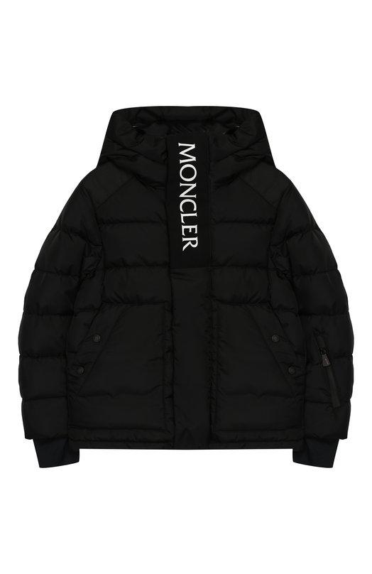 Купить Куртка на молнии с капюшоном Moncler Enfant, D2-954-41892-85-5399E/4-6A, Армения, Черный, Полиамид: 100%; Подкладка-полиамид: 100%;