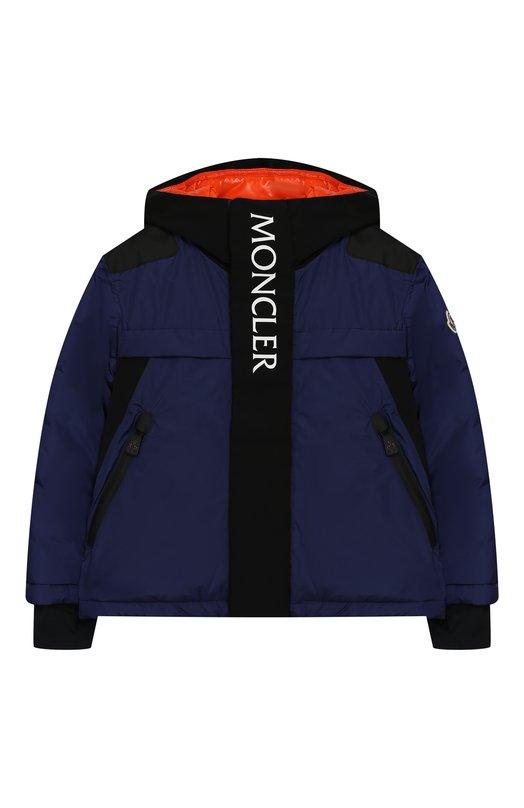 Купить Куртка на молнии с капюшоном Moncler Enfant, D2-954-41893-35-5399E/4-6A, Армения, Синий, Полиамид: 100%; Подкладка-полиамид: 100%;