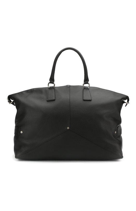 Купить Кожаная дорожная сумка с плечевым ремнем Dsquared2, DFM0009 25100001, Италия, Черный, Кожа: 100%;