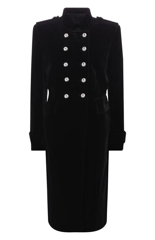 Купить Двубортное пальто с декоративными пуговицами Tom Ford, CP1451-FAX171, Италия, Черный, Подкладка-шелк: 50%; Подкладка-вискоза: 50%; Хлопок: 100%;
