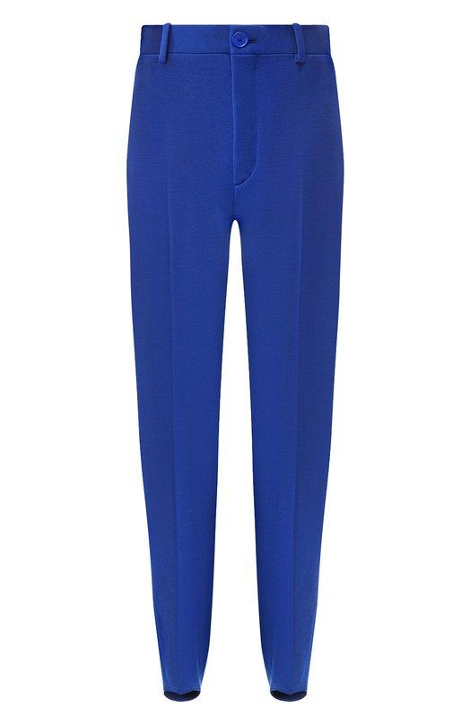 Купить Однотонные брюки со стрелками Balenciaga, 543260/TC002, Италия, Синий, Эластан: 5%; Полиамид: 46%; Полиэстер: 25%; Шерсть: 24%;