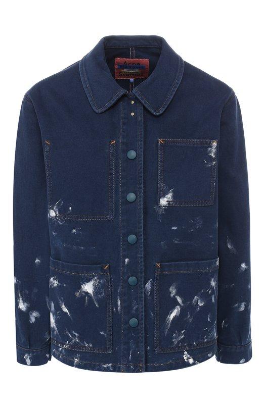 Купить Джинсовая куртка с накладными карманами Acne Studios, A90039, Италия, Синий, Хлопок: 100%;