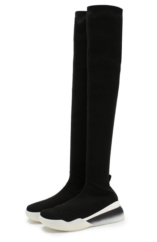 Купить Текстильные кроссовки Loop с высоким голенищем Stella McCartney, 531758/W1IQ1, Италия, Черный, Подошва-резина: 100%; Текстиль: 100%; Подкладка-текстиль: 100%; Низ-текстиль: 100%;