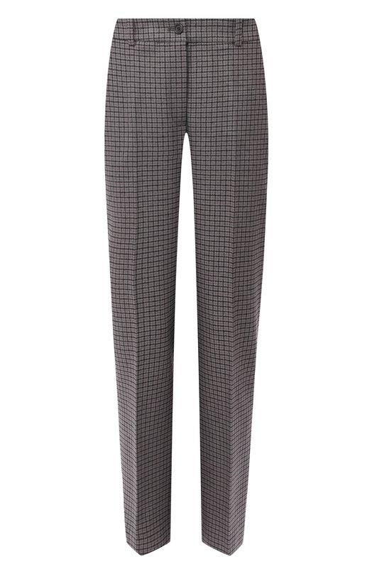 Шерстяные брюки в клетку  Michael Kors Collection