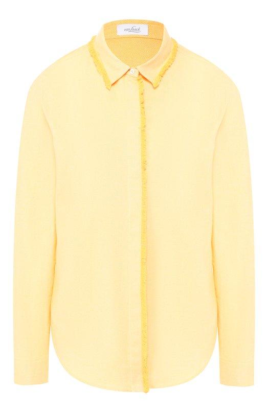 Купить Хлопковая блуза с необработанным краем Van Laack, LENI-PB/155080, Тунис, Желтый, Хлопок: 100%;