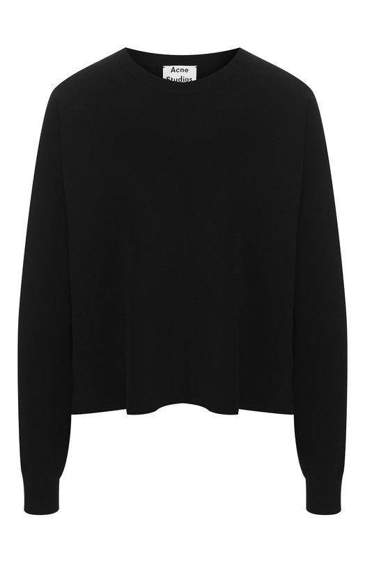 Купить Однотонный пуловер свободного кроя Acne Studios, 19E181/W, Китай, Черный, Вискоза: 70%; Полиэстер: 30%;