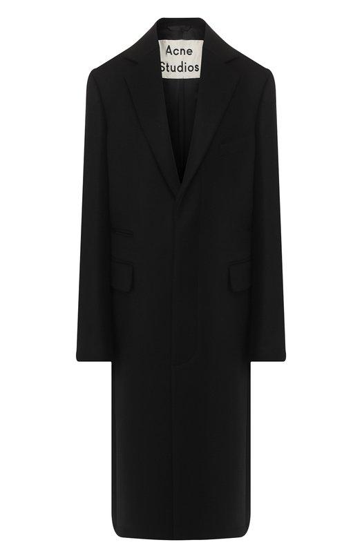 Шерстяное пальто с отложным воротником Acne Studios, A90012, Португалия, Черный, Шерсть: 82%; Полиамид: 18%; Подкладка-вискоза: 100%;  - купить