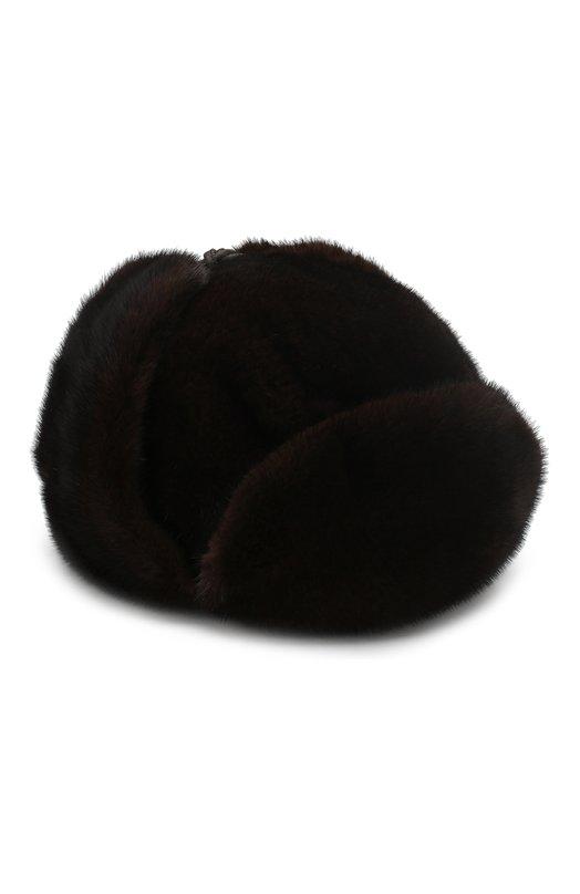 Купить Норковая шапка-ушанка FurLand, 0099000110034300000, Россия, Коричневый, Мех/Норка: 100%; Кожа: 100%;