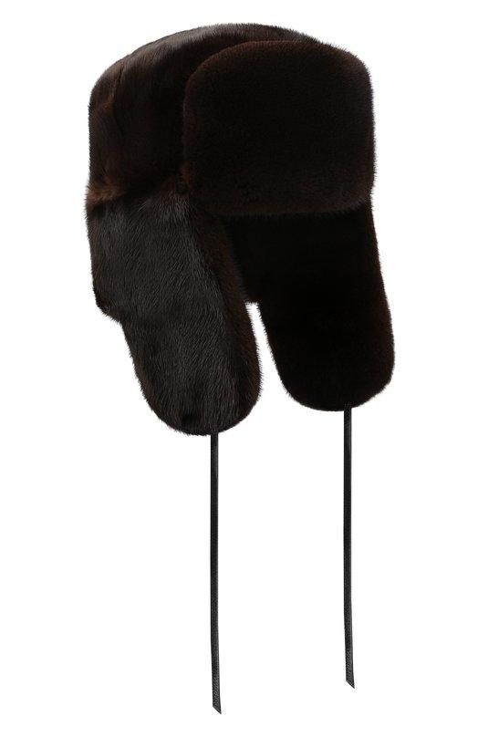 Купить Норковая шапка-ушанка FurLand, 0012200110034300146, Россия, Коричневый, Мех/Норка: 100%;