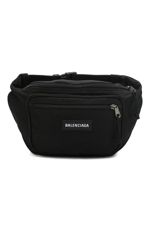 Купить Текстильная поясная сумка Explorer Balenciaga, 482389/9TY45, Италия, Черный, Полиамид: 100%; Текстиль: 100%;