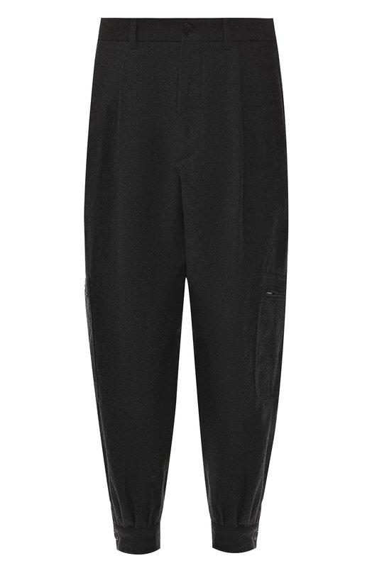 Купить Шерстяные брюки-карго Giorgio Armani, 8WGPP016/T0091, Италия, Темно-серый, Шерсть: 100%;