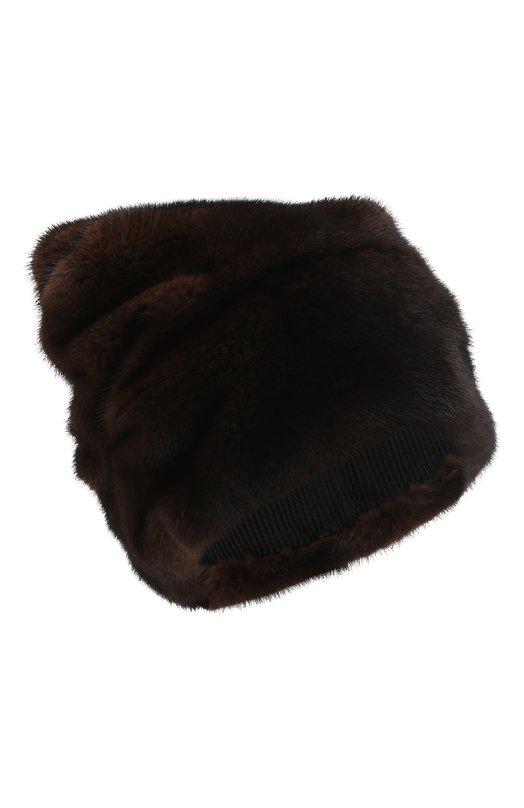 Купить Шапка из меха норки FurLand, 0007400110034300605, Россия, Коричневый, Мех/норка/: 100%;