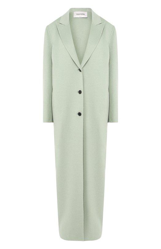 Купить Однотонное шерстяное пальто Valentino, QB0CA2Y04AS, Италия, Светло-зеленый, Шерсть: 100%;