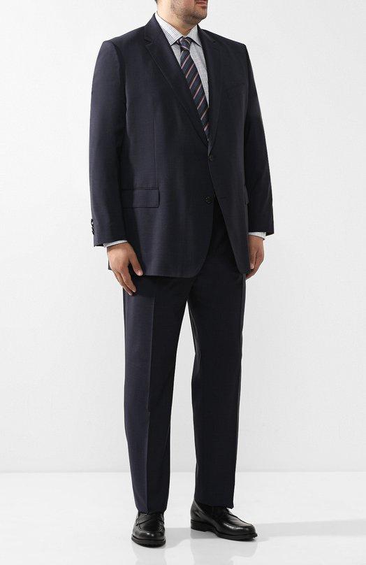 Шерстяной костюм с пиджаком на двух пуговицах Windsor. Цвет: темно-синий