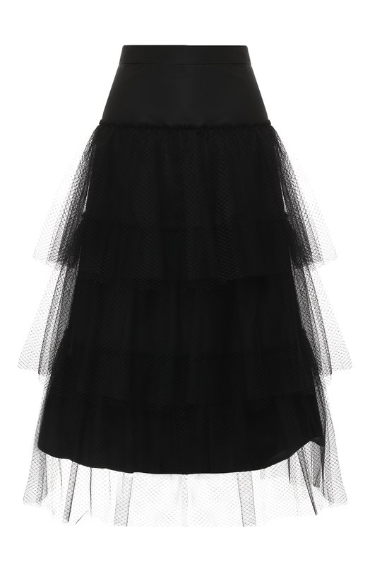 Многоярусная юбка-миди Burberry Burberry