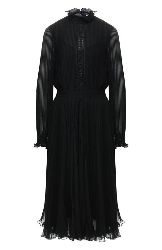Приталенное платье с воротником-стойкой Polo Ralph Lauren, 211718168, Китай, Черный, Полиэстер: 100%;  - купить