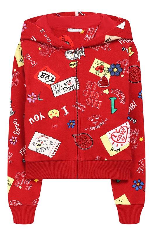 Хлопковый кардиган с капюшоном Dolce & Gabbana