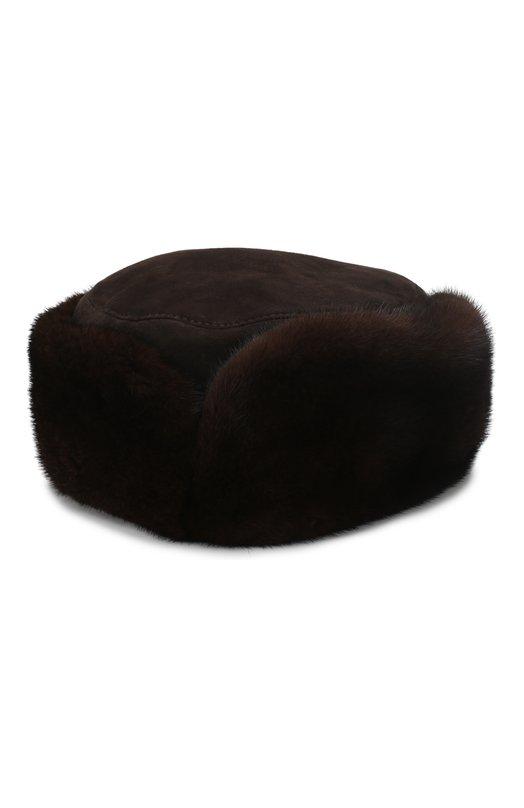 Купить Норковая шапка Бранд FurLand, 0015102110034300130, Россия, Коричневый, Мех/Норка: 100%;
