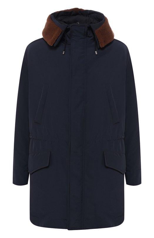 Купить Куртка на молнии с капюшоном Pal Zileri, N39SK730---42102, Италия, Темно-синий, Подкладка-Полиэстер: 100%; Полиэстер: 100%;